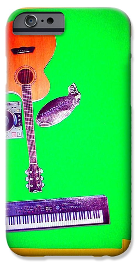 Music IPhone 6 Case featuring the mixed media Yvie's Music Mask by Debra Bretton Robinson