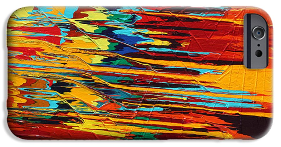 Fusionart IPhone 6 Case featuring the painting Zap by Ralph White
