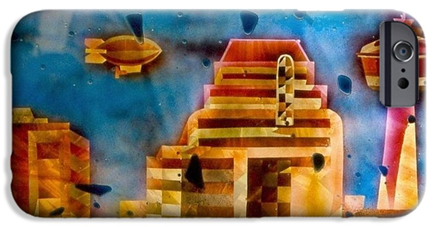 Landscape IPhone 6 Case featuring the painting Zepplins Detail by Rick Silas