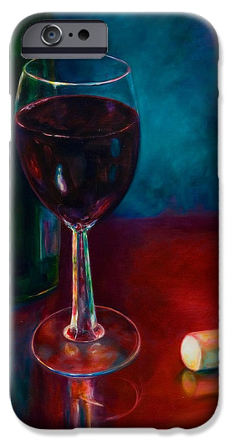 Wine Bottle IPhone 6 Case featuring the painting Zinfandel by Shannon Grissom