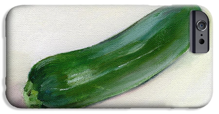 Food IPhone 6 Case featuring the painting Zucchini by Sarah Lynch