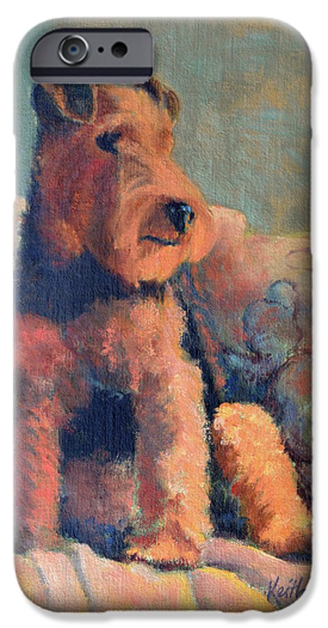 Pet IPhone 6 Case featuring the painting Zuzu by Keith Burgess