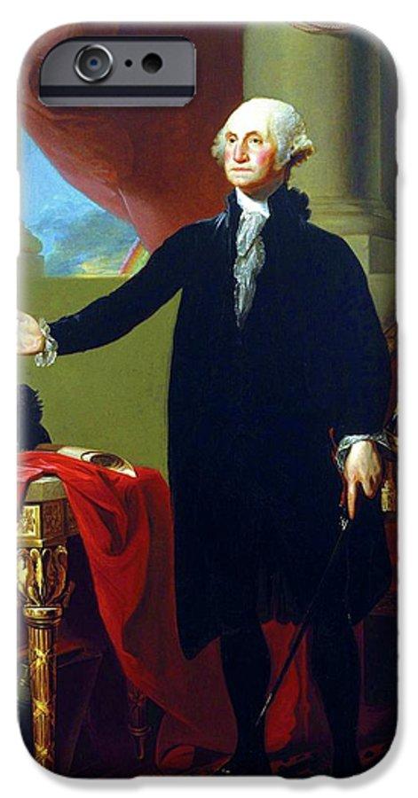 Gilbert Stuart IPhone 6 Case featuring the painting George Washington by Gilbert Stuart