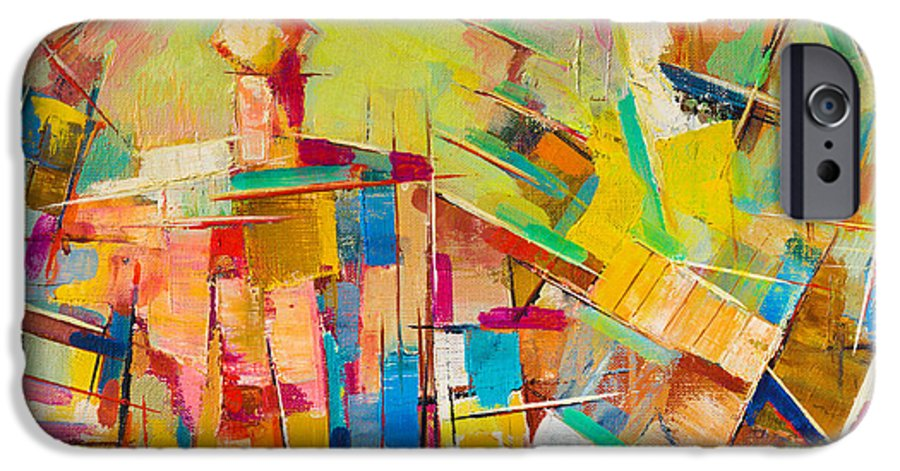 Brushed IPhone 6 Case featuring the photograph Abstract Colorful Oil Painting On Canvas by Gurgen Bakhshetyan