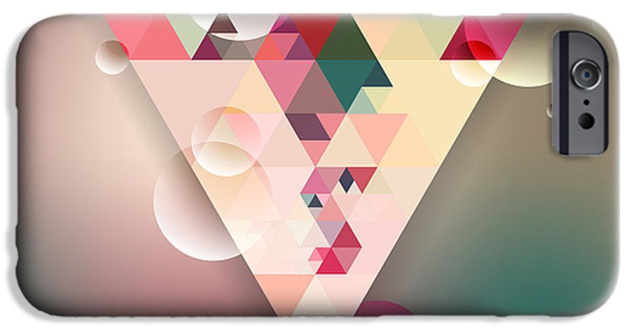 Template IPhone 6 Case featuring the digital art Abstract Geometric Background With by Olha Kostiuk