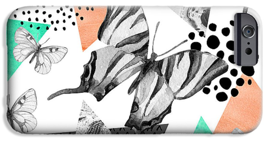 Marbling IPhone 6 Case featuring the digital art Abstract Natural Geometric Seamless by Tanya Syrytsyna