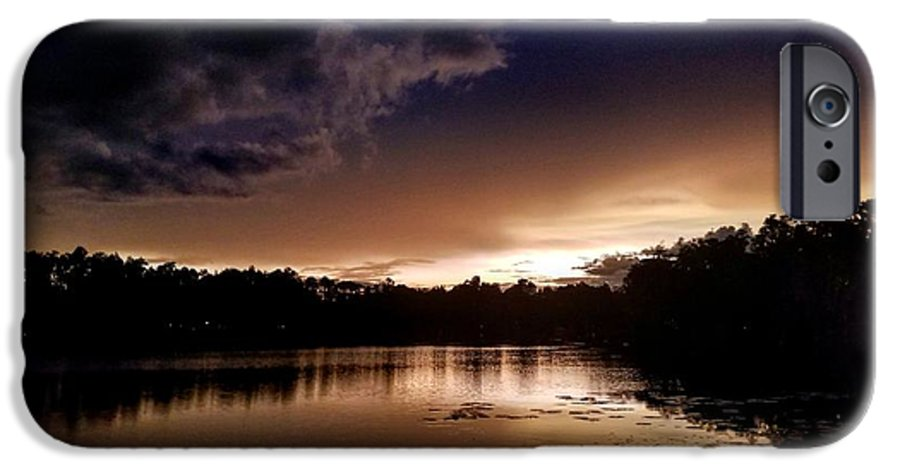 Sunset IPhone 6 Case featuring the photograph Dark Reflections by Shena Sanders