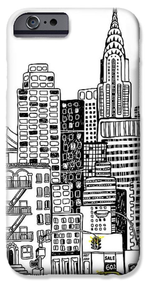 Shop IPhone 6 Case featuring the digital art New York by Artnlera