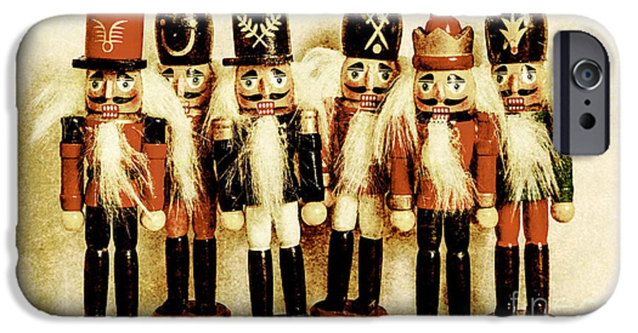 Xmas IPhone 6 Case featuring the photograph Old Nutcracker Brigade by Jorgo Photography - Wall Art Gallery