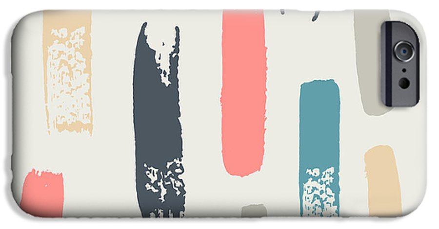 Blot IPhone 6 Case featuring the digital art Seamless Pattern With Color Strokes by Smika