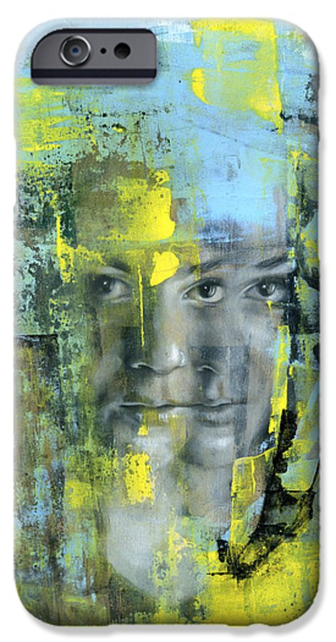 Portrait IPhone 6 Case featuring the painting The Naked Word by Patricia Ariel