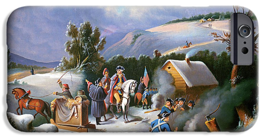 George Washington IPhone 6 Case featuring the painting Washington at Valley Forge by Anonymous