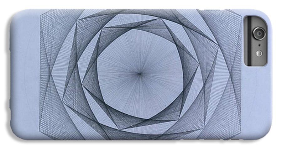 Jason Padgett IPhone 6 Plus Case featuring the drawing  Energy Spiral by Jason Padgett