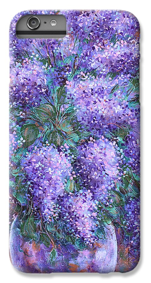 Flowers IPhone 6 Plus Case featuring the painting Scented Lilacs Bouquet by Natalie Holland
