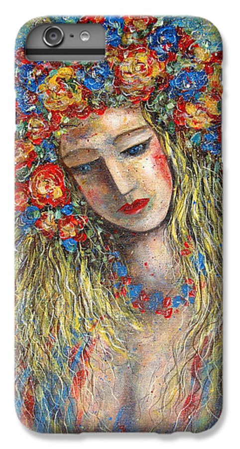 Painting IPhone 6 Plus Case featuring the painting The Loving Angel by Natalie Holland