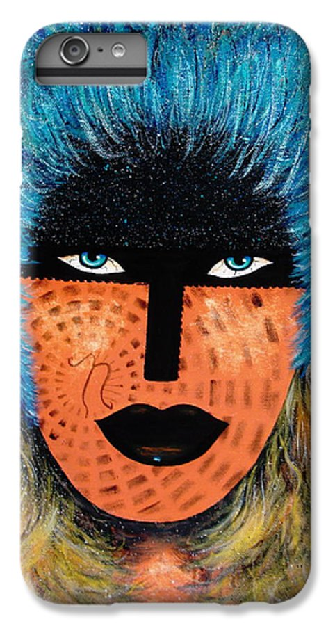 Woman IPhone 6 Plus Case featuring the painting Viva Niva by Natalie Holland