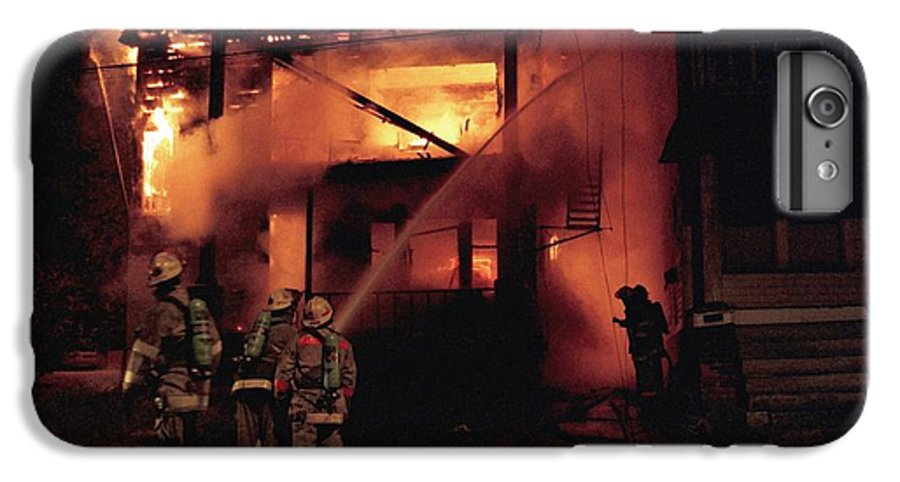 Fire IPhone 6 Plus Case featuring the photograph 071506-4 Cleveland Firefighters On The Job by Mike Davis