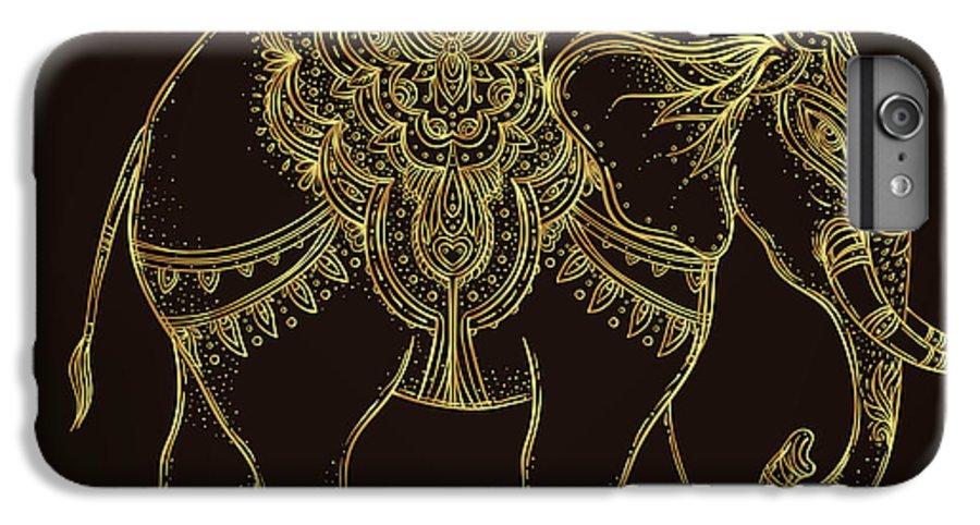 Symbol IPhone 6 Plus Case featuring the digital art Beautiful Hand-drawn Tribal Style by Gorbash Varvara