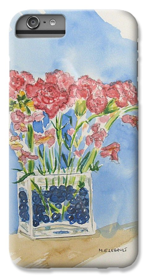 Flowers IPhone 6 Plus Case featuring the painting Flowers In A Vase by Mary Ellen Mueller Legault