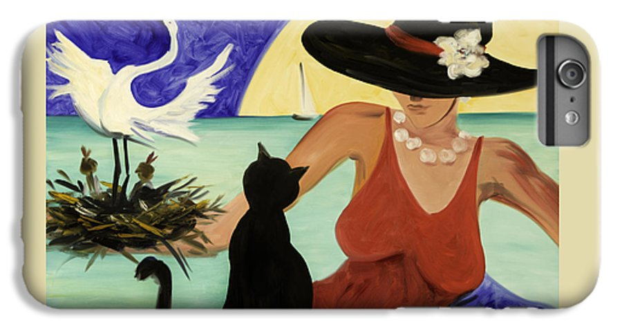 Colorful Art IPhone 6 Plus Case featuring the painting Living The Dream by Gina De Gorna
