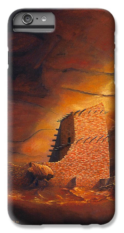 Mummy Cave Ruins IPhone 6 Plus Case featuring the painting Mummy Cave Ruins by Jerry McElroy