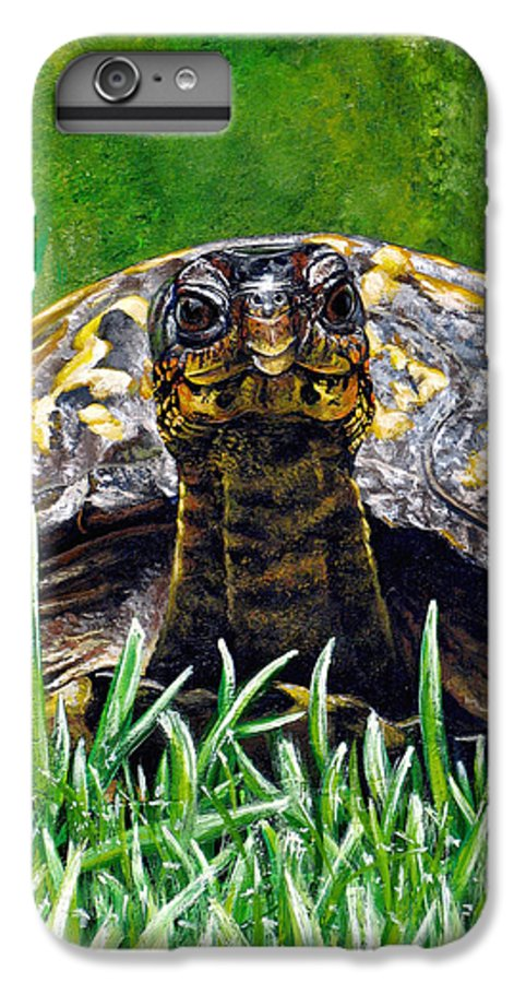 Turtle IPhone 6 Plus Case featuring the painting Smile by Cara Bevan