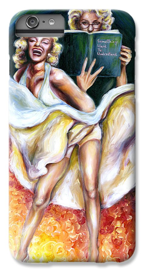 Marilyn Monroe Parody IPhone 6 Plus Case featuring the painting 12 Signs Series Gemini by Hiroko Sakai