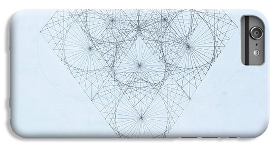 Jason Padgett IPhone 6 Plus Case featuring the drawing Diamond Quanta by Jason Padgett