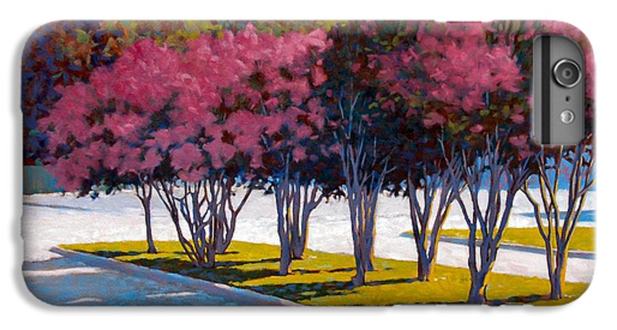 Crepe Myrtles IPhone 6 Plus Case featuring the painting Balanced Account by Kevin Lawrence Leveque