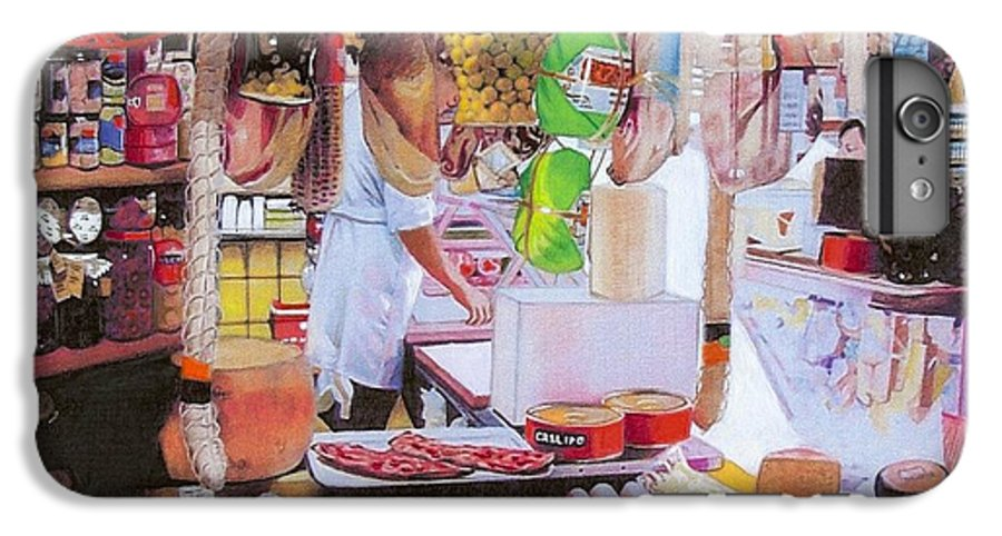Food IPhone 6 Plus Case featuring the mixed media Deli On The Via Condotti by Constance Drescher