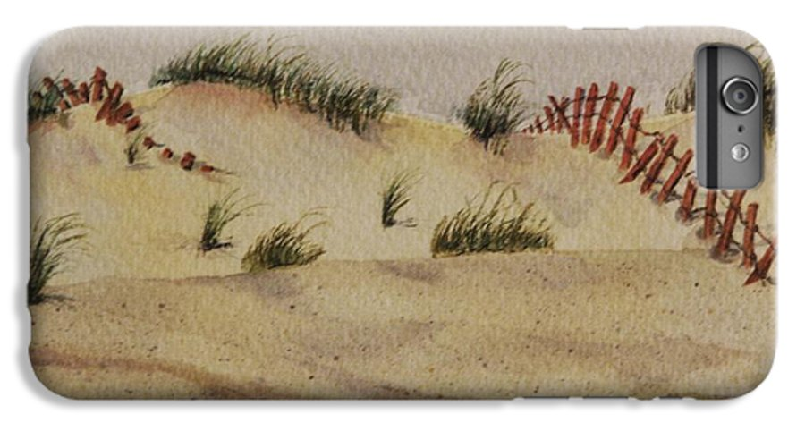 Sand IPhone 6 Plus Case featuring the painting Dunes by Mary Ellen Mueller Legault