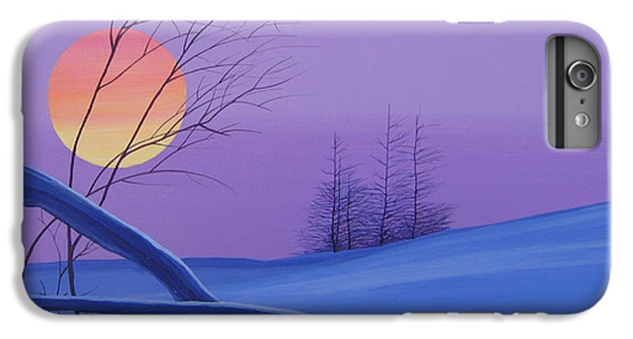Mountains IPhone 6 Plus Case featuring the painting Silent Snow by Hunter Jay