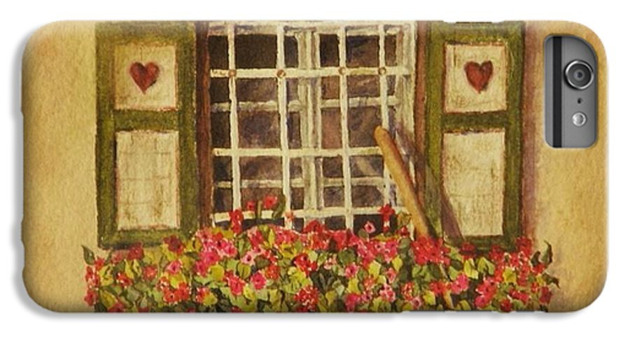 Rural IPhone 6 Plus Case featuring the painting Farm Window by Mary Ellen Mueller Legault