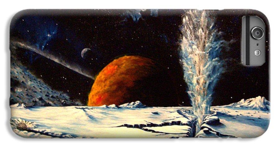 Landscape. Geyser IPhone 6 Plus Case featuring the painting Frozen Geyser by Murphy Elliott