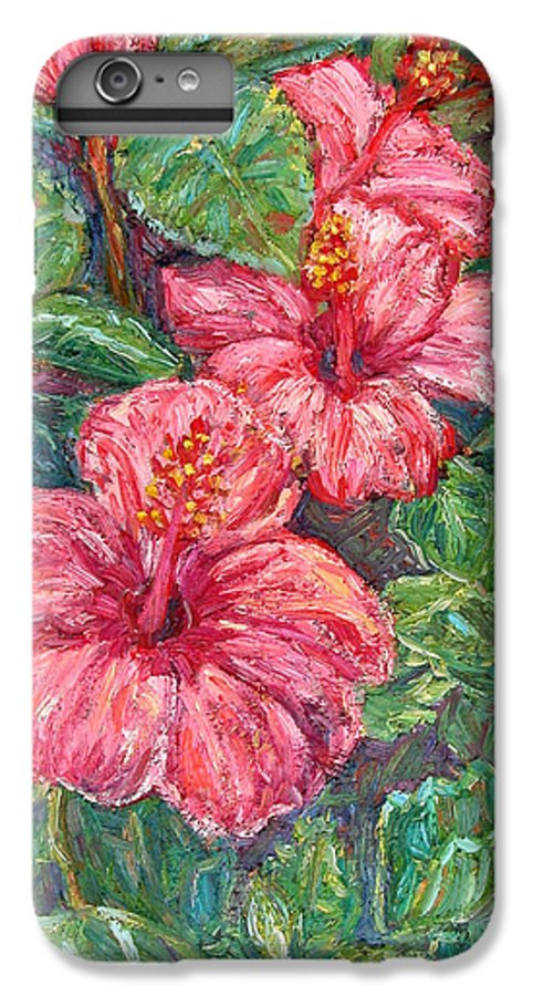 Hibiscus IPhone 6 Plus Case featuring the painting Hibiscus by Kendall Kessler