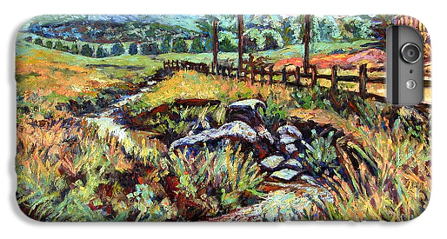 Landscape Paintings IPhone 6 Plus Case featuring the painting Stroubles Creek by Kendall Kessler