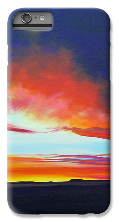 Landscape IPhone 6 Plus Case featuring the painting The Long Way Home by Hunter Jay