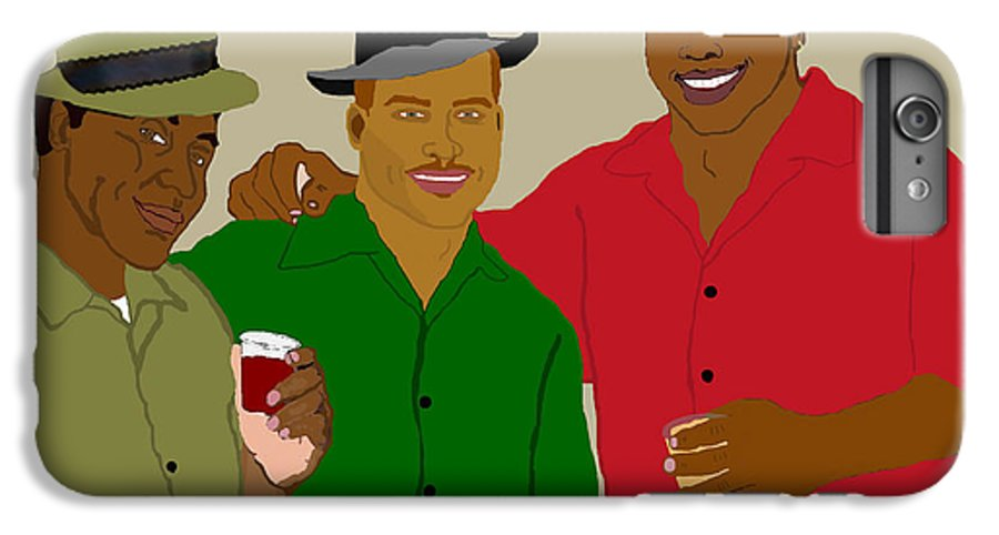 Friends IPhone 6 Plus Case featuring the painting 3 Buds by Pharris Art