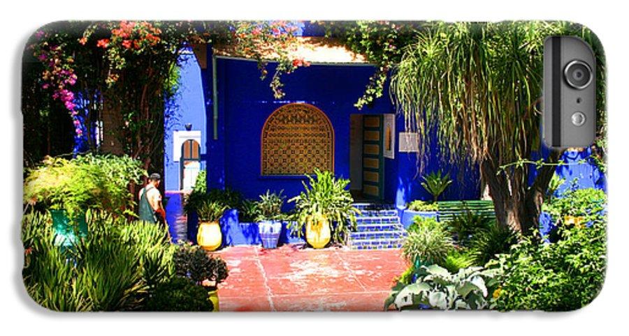 Majorelle Garden IPhone 6 Plus Case featuring the photograph Majorelle Garden Marrakesh Morocco by Ralph A Ledergerber-Photography