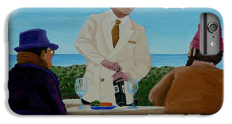 Wine IPhone 6 Plus Case featuring the painting A Fresh Bottle by Anthony Dunphy