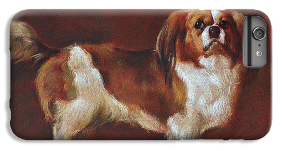 Pastel IPhone 6 Plus Case featuring the painting A King Charles Spaniel by Iliyan Bozhanov