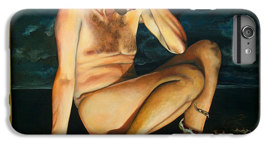 Fall Of Adam IPhone 6 Plus Case featuring the painting Adam Revealed by Teresa Carter