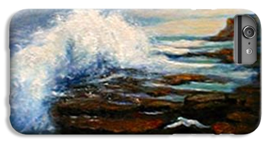 Seascape IPhone 6 Plus Case featuring the painting After The Storm by Gail Kirtz