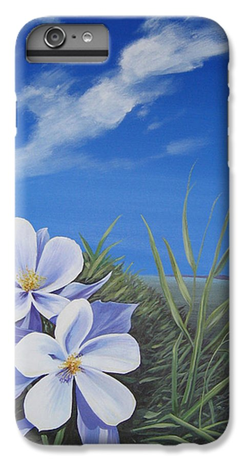 Landscape IPhone 6 Plus Case featuring the painting Afternoon High by Hunter Jay