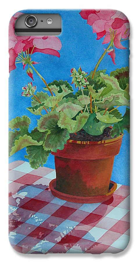 Floral. Duvet IPhone 6 Plus Case featuring the painting Afternoon Shadows by Mary Ellen Mueller Legault