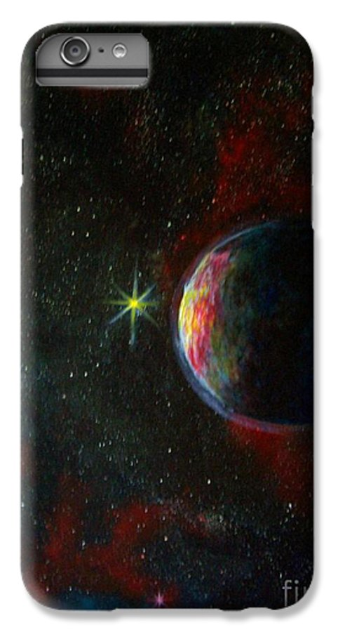 Cosmos IPhone 6 Plus Case featuring the painting Alien Worlds by Murphy Elliott
