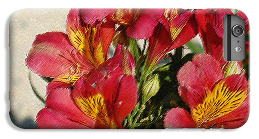 Alstroemeria IPhone 6 Plus Case featuring the photograph Alstroemeria In Pastel by Suzanne Gaff