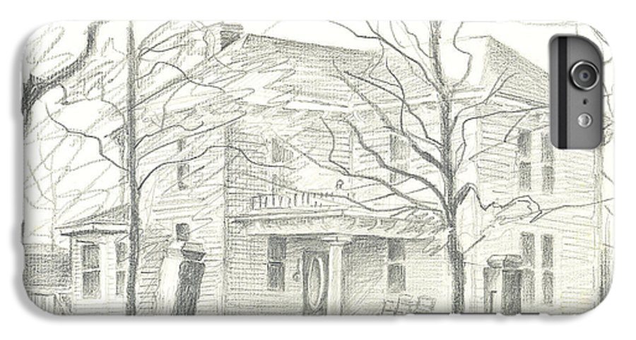 American Home Ii IPhone 6 Plus Case featuring the drawing American Home II by Kip DeVore