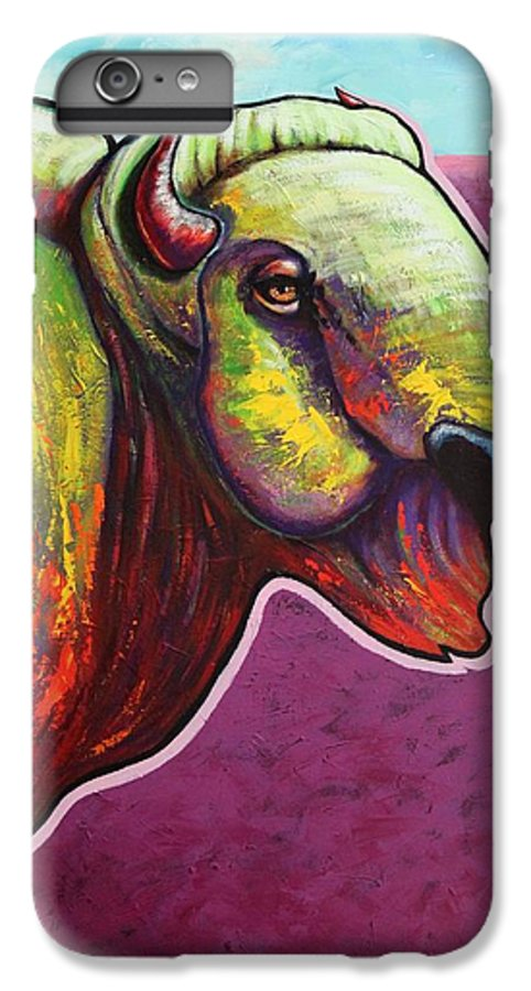 Wildlife IPhone 6 Plus Case featuring the painting American Monarch by Joe Triano