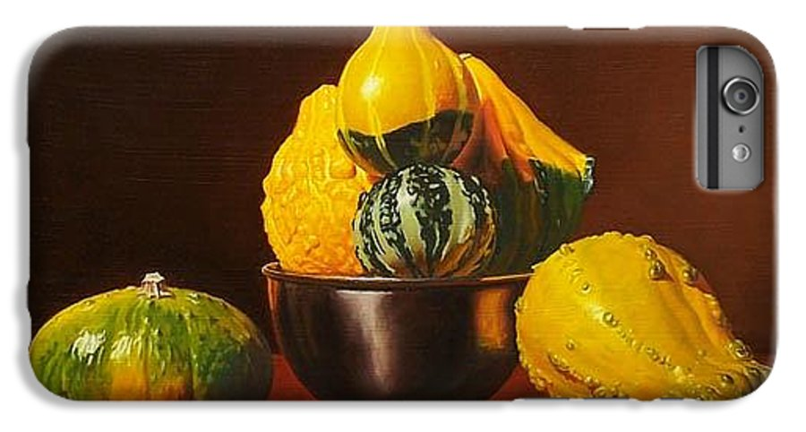 Still Life IPhone 6 Plus Case featuring the painting An Arrangement Of Gourds by Gary Hernandez